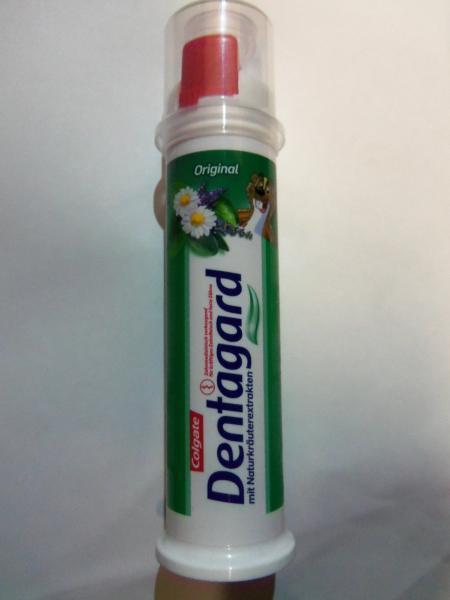 зубная паста с травами помповая DENTAGARD, 100 мл.
