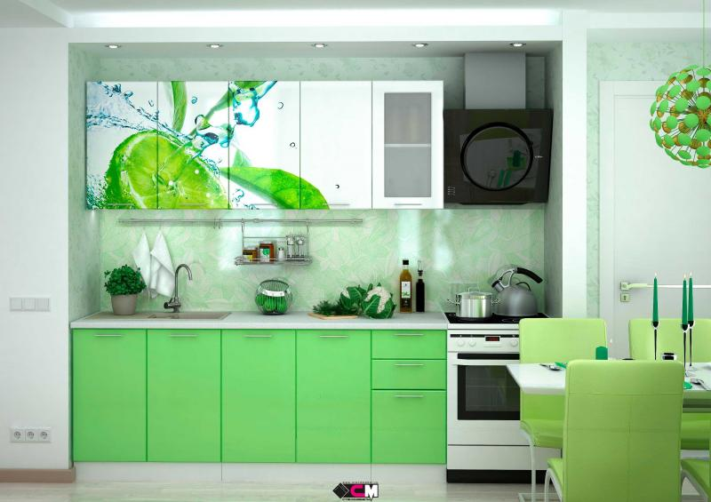 Фото Кухни готовые Кухня Лайм 2,0м (1,6м, 1,8м) - (Стендмебель)