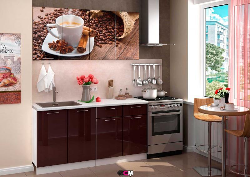 Фото Кухни готовые Кухня Кофе 1,6м (1,8м, 2,0м) - (Стендмебель)