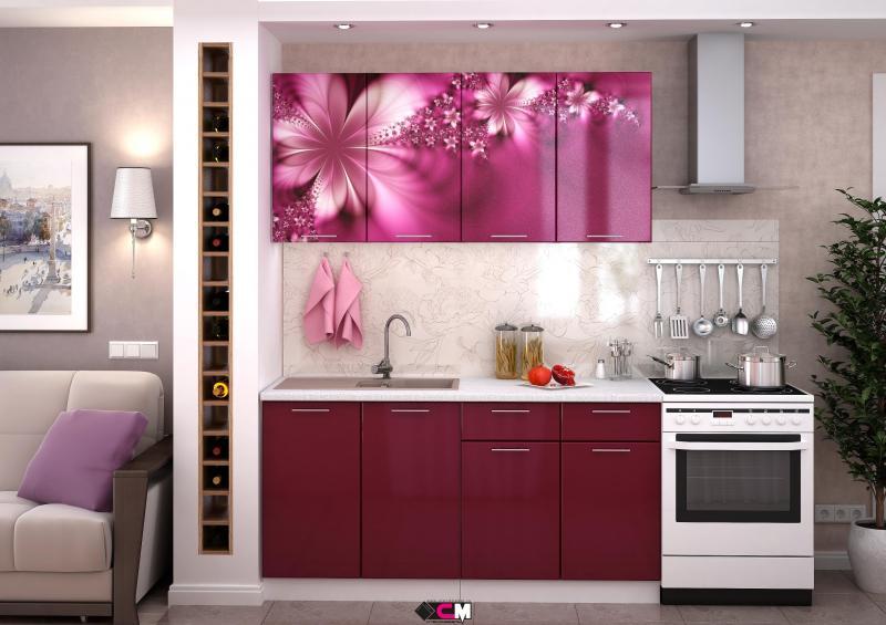 Кухня Лилии 1,6м (1,8м, 2,0м) - (Стендмебель)