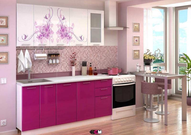 Фото Кухни готовые Кухня Нежность 1,8м (1,6м, 2,0м) - (Стендмебель)