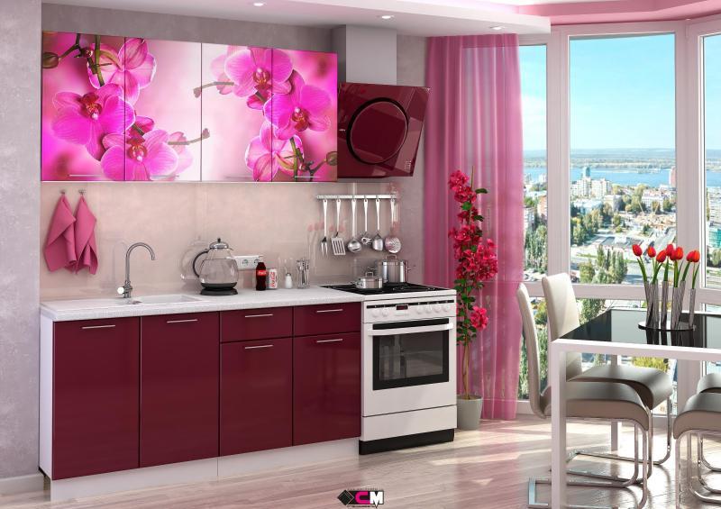 Фото Кухни готовые Кухня Орхидея 1,6м (1,8м, 2,0м) - (Стендмебель)
