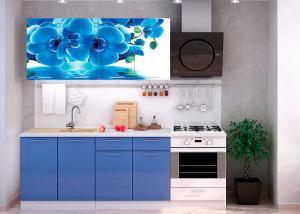 Кухня Голубая Орхидея 1,6м (1,8м, 2,0м) - (Стендмебель)