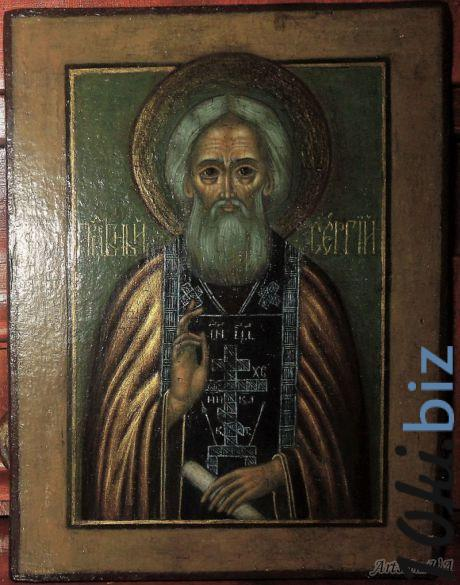 Икона Преподобный  Сергий Радонежский  купить в Сумах - Антиквариат