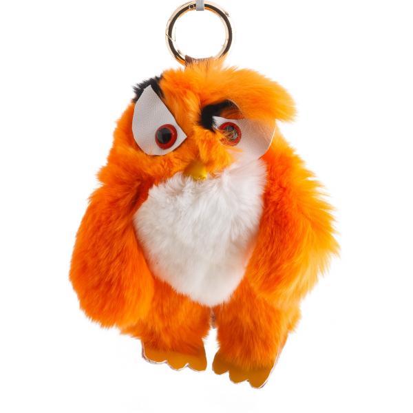 Брелок детский Птица нат. мех  оранж  Энгри Бердс ( Angry Birds ) h-15 см
