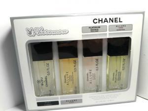 Фото 15 мл по 4 шт мини-парфюмы в подарочной упаковке С ФЕРАМОНАМИ 4х15мл Феромоны CHANEL (М)