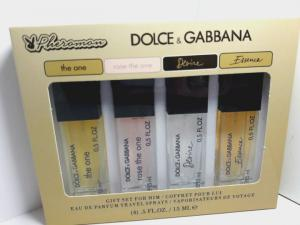Фото 15 мл по 4 шт мини-парфюмы в подарочной упаковке С ФЕРАМОНАМИ 4х15мл Феромоны Dolce&Gabbana (Ж)