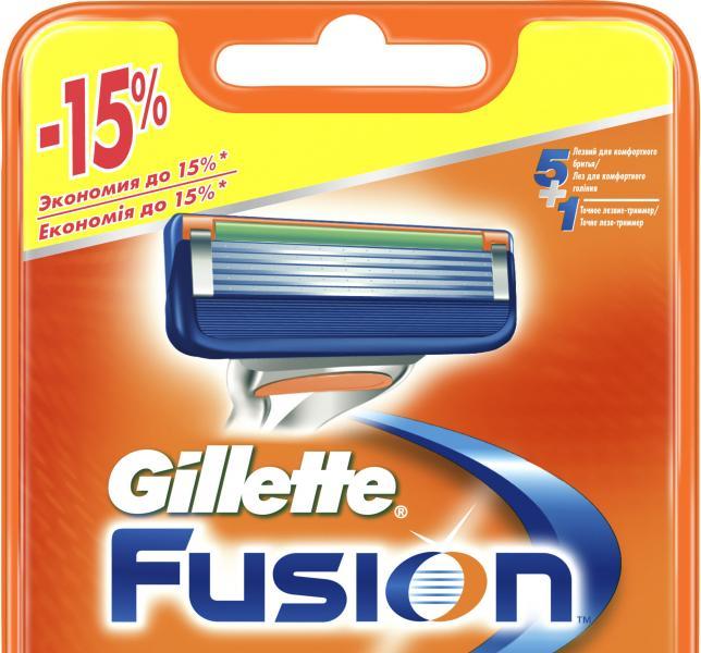 """Картридж для бритвы мужской """"Gillette"""" Fusion 6 шт"""