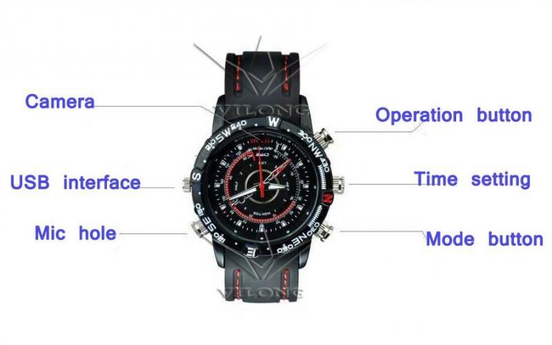 Наручные часы 8 GB 1280 * 960 Mini DV DVR