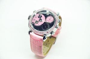 Фото Шпионская мини видеокамера Наручные часы со встроенной видеокамерой женские zr