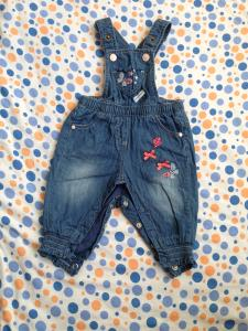 Фото Одежда для девочек, Размер 62 джинсовый комбинезон