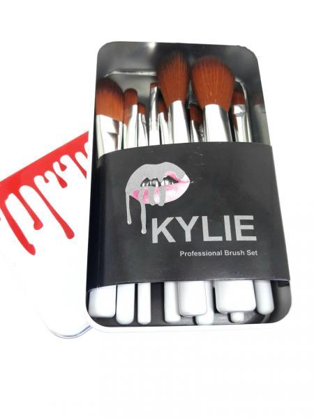 Профессиональный набор кистей для макияжа Kylie Jenner 12 шт (белая)