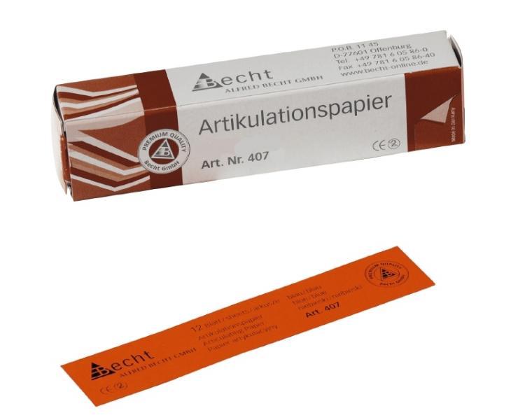 BK 80 Артикуляционная бумага (2-цветная 2-х ст.) Becht - Германия.