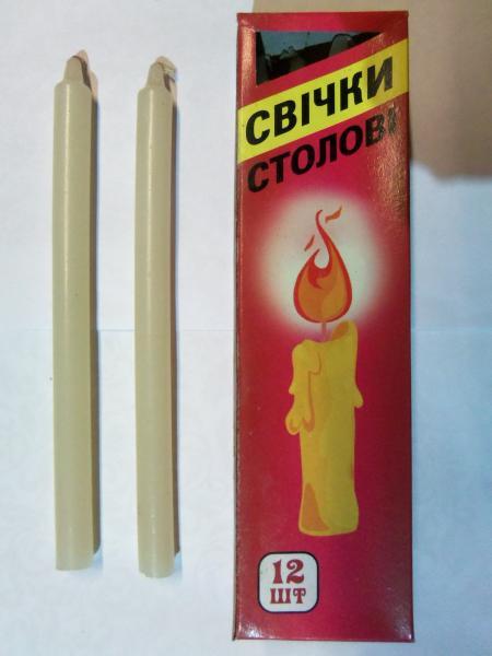 Свечи хозяйственные 8 часов горения, 12 шт. в упаковке