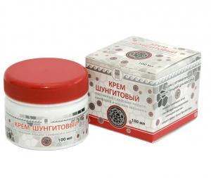 Фото Изделия из шунгита Крем шунгитовый массажный с красным перцем, камфорой и маслом эвкалипта