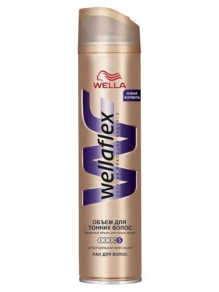 Лак для волос Wellaflex объем