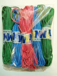 Веревка цветная 15 метров, 5 штук в упаковке.
