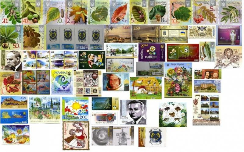 1. 2012 Годовой набор почтовых марок