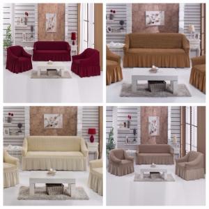 Чехлы для прямых диванов + 2 кресла