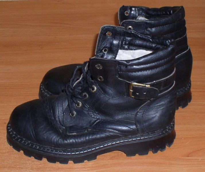 Сапоги мужские кожаные *6888
