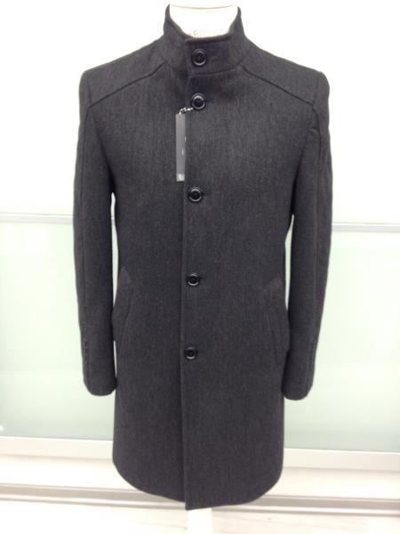 Мужское шерстяное демисезонное пальто. Модель 719