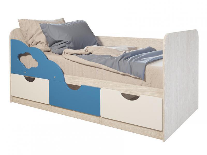 Фото Детская мебель Кровать Минима Скай 1,6м (БТС)