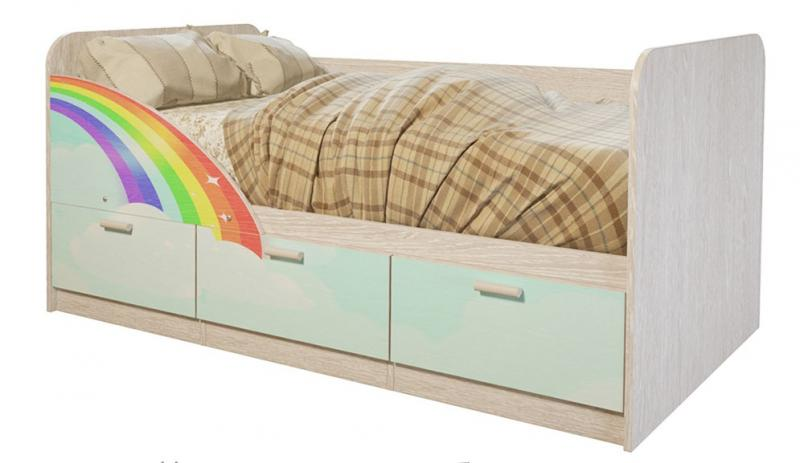Фото Детская мебель Кровать Минима Радуга 1,6м (БТС)