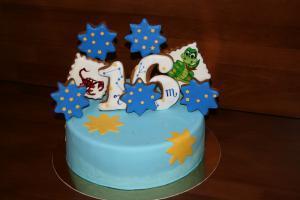 Фото Торты, Тематические торты Торт пряничный, топперы Знаки Зодиака (змея, скорпион)