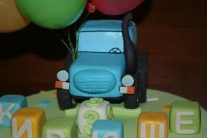Фото Торты, Детские торты Торт Синий трактор