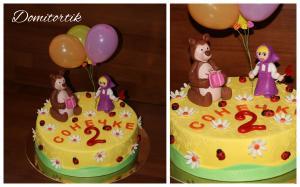 Фото Торты, Детские торты Торт Маша и медведь