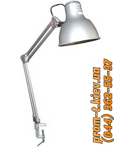 Фото Светильники, прожекторы, светодиодные, уличные, потолочные, подвесные, промышленные, точечные, Светильник DeLux Светильник настольный (лампа) на струбцине DeLux TF-06 Е27 серый
