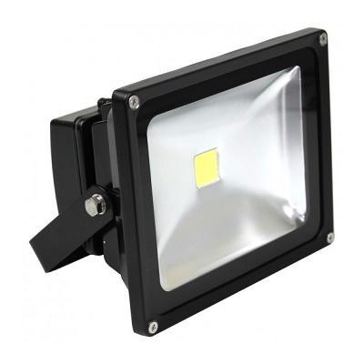 Светильник светодиодный (прожектор) черный COB 10W Eurolamp