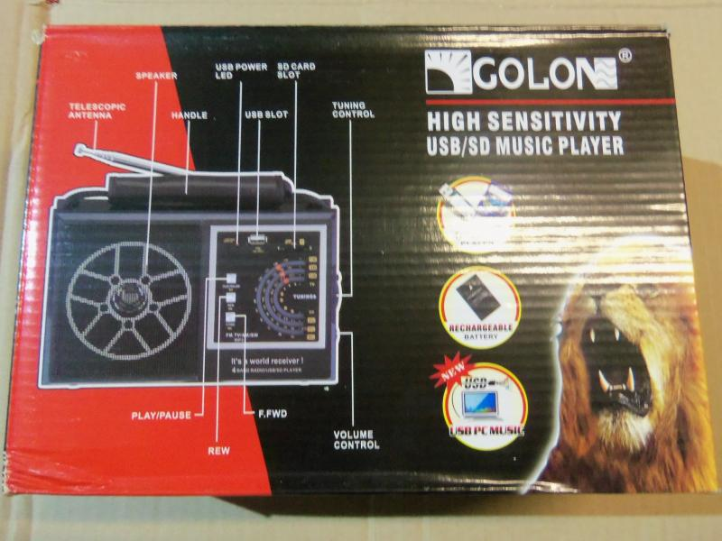Радио GOLONE USB/SD Music player, 4 вида.