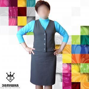 Фото Женская одежда Костюм жилет + юбка