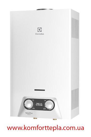 Газовая колонка Electrolux NANO PLUS GWH 265 ERN (10 л/мин автомат/батарейки)