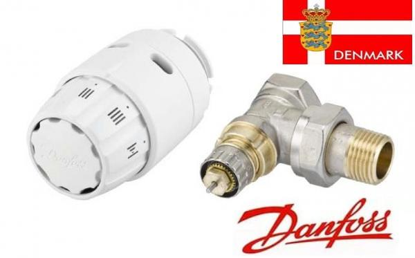 Термостатическая головка DANFOSS 013G5143 RAS-C2 + клапан RA-FN 1/2 угловой