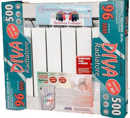 Фото Радиаторы отопления, Биметалические радиаторы Биметаллический радиатор отопления Diva 500/96