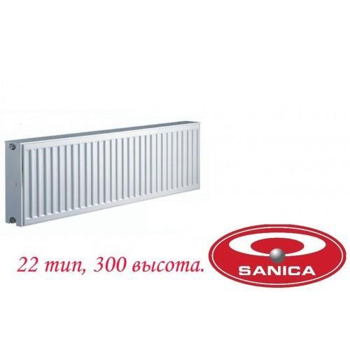 Стальной панельный радиатор Sanica vk 22 300?400
