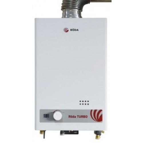 Газовая турбированная колонка RODA JSD20-T1 (с дисплеем, 10л в мин., автомат)