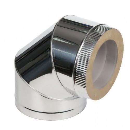 Колено 90? для дымохода из нержавеющей стали с термоизоляцией (нерж/нерж) d 130/200