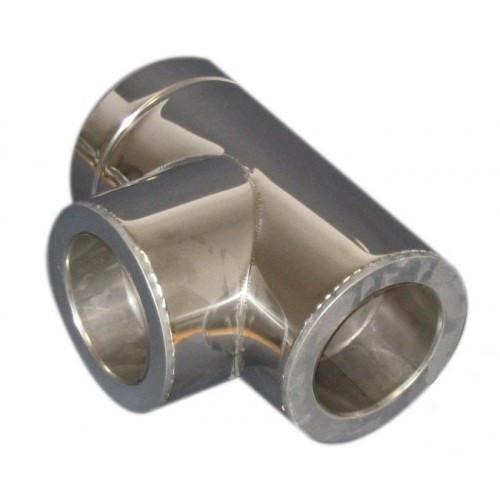 Тройник из нержавеющей стали  с термоизоляцией нерж/нерж (87°) d 150/220