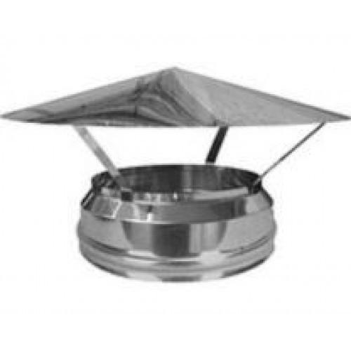 Грибок термо для дымохода с термоизоляцией из нержавеющей стали d 110/180