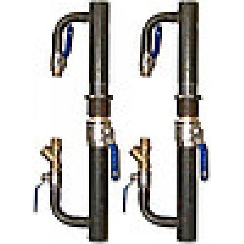 Байпас с краном O 40 для систем отопления (длинный)