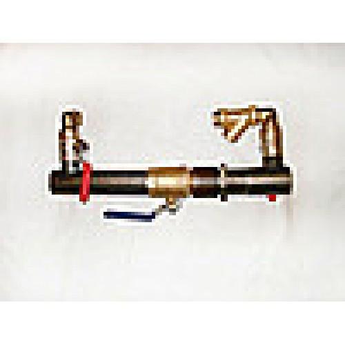Байпас с клапаном O 50 для систем отопления (короткий)