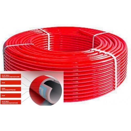 Труба для теплого пола из сшитого полиэтилена с кислородным барьером Sinor PE-RT OXYstop  д.16х2,0 мм