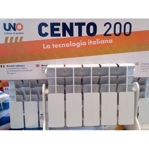 Биметаллический радиатор UNO CENTO 200*100
