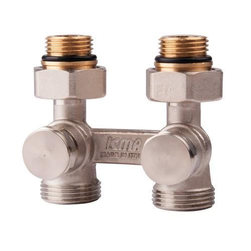 Двухтрубный вентиль для панельного радиатора 1/2' ICMA арт.897