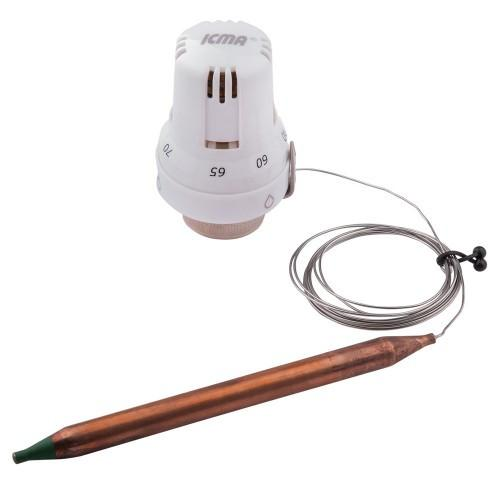 Термостатическая головка с погружным датчиком 30х1,5 (0-28 °С) ICMA арт.997