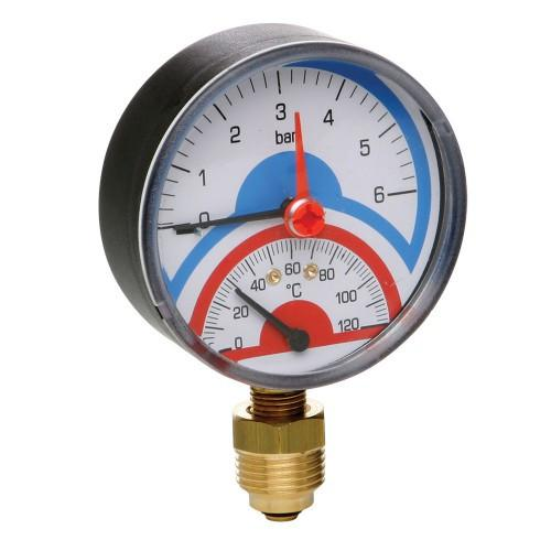 Термоманометр 1/2' (6 bar, 120°C) ICMA арт.258