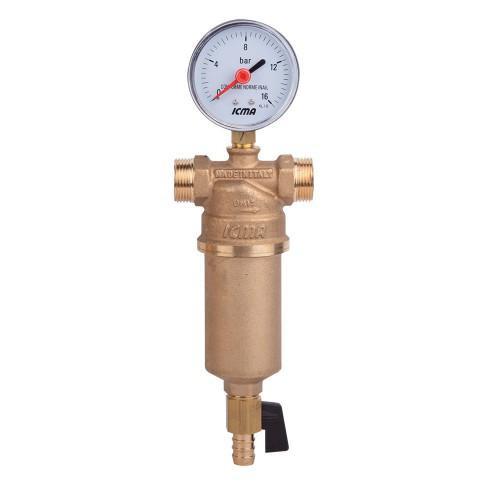 Самопромывной фильтр для воды 1' 1/4 (1' 1/2) ICMA арт.750